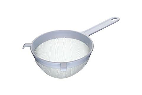 Kitchen Craft Round Nylon Mesh Plastic Strainer, 18cm