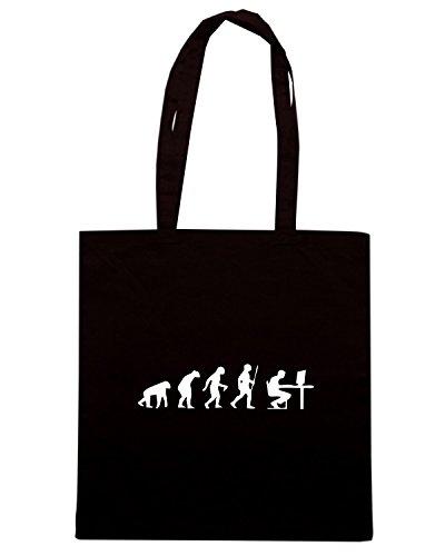 T-Shirtshock - Borsa Shopping EVO0033 Geek Evolution Humor Maglietta Nero
