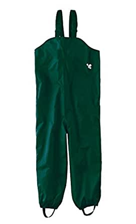 Muddy Puddles Childrens Waterproof Dungarees - Green Protective kids overalls rainwear Snow PUDGREEN-Age 3/4