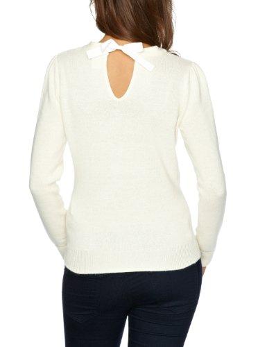 Vila Clothes - Pull - Femme Ivoire (Off White)