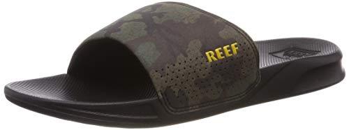 Reef Herren ONE Slide Zehentrenner, Grün (Green CAMO GCM), 44 EU
