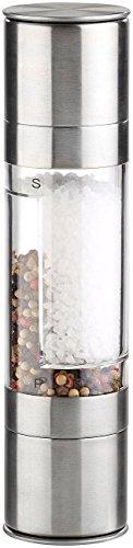 Rosenstein & Söhne Chilimühle: Manuelle 2in1-Salz-und Pfeffermühle mit 2 Keramik-Mahlwerken, 22 cm (Salz- und Pfeffer-Streuer)