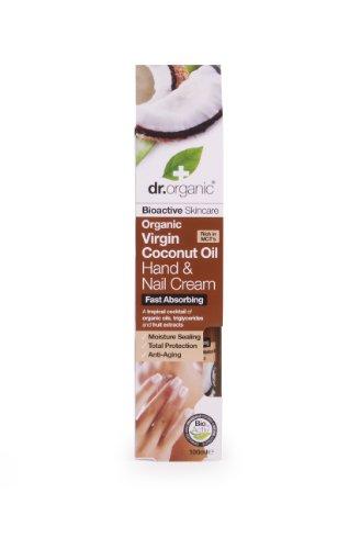 Dr. Organic Crème pour mains et ongles à l'huile de coco 100 ml