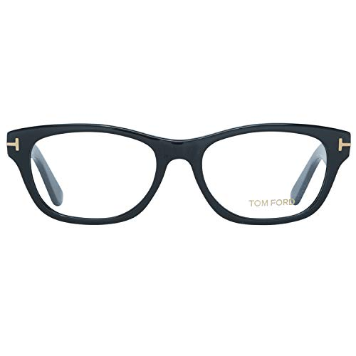 Tom Ford Damen Brille FT5425 001 53 Brillengestelle, Schwarz,