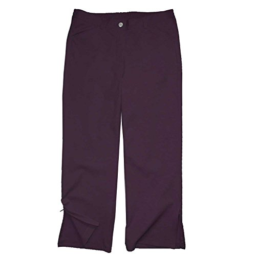 adonia mode Chice 7/8 Strech-Hose Zipper am Bein , Gr. 40-46 Aubergine