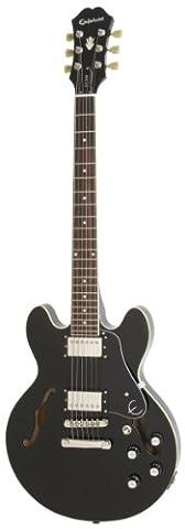 Epiphone ES-339 Semi Hollow Body Electric Guitar, Ebony Finish, Maple Body, 24.75 scale
