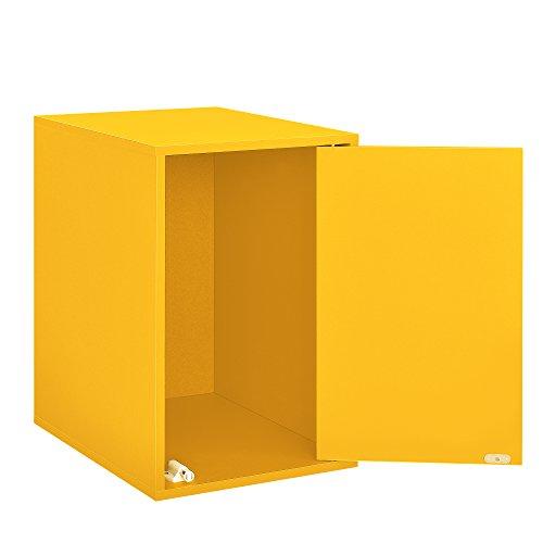 [en.casa] Scaffale Moderno con Porta in Color Senape - MDF, impiallacciato - Perfettamente combinabile - 45x30x40cm