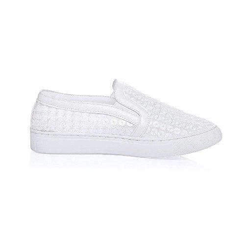 Tração Alguns Brancos Baixo Toe Em Senhoras Salto Agoolar Perto Bombas Sapatos qgHwxICgFn