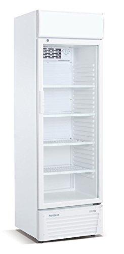 Kühlschrank mit Glastür Flaschenkühlschrank 336 Liter Getränkekühlschrank Gewerbekühlschrank Gastrokühlschrank 600 x 590 x 1900 mm