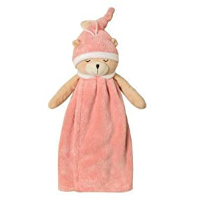 UChic 1Pcs Cute Sleeping Bear Hand Towel Soft Coral Velvet Kids Children Cartoon Absorbent Quick Dry Towel Lovely Animal Towel For Kitchen Bathroom(At Random Color)
