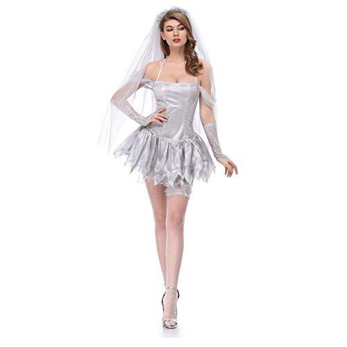 Service Kostüm - QIAO Schleier-Geist-Braut-trockenes Leichen-Kunst-Foto-Service-Halloween-Kostüm