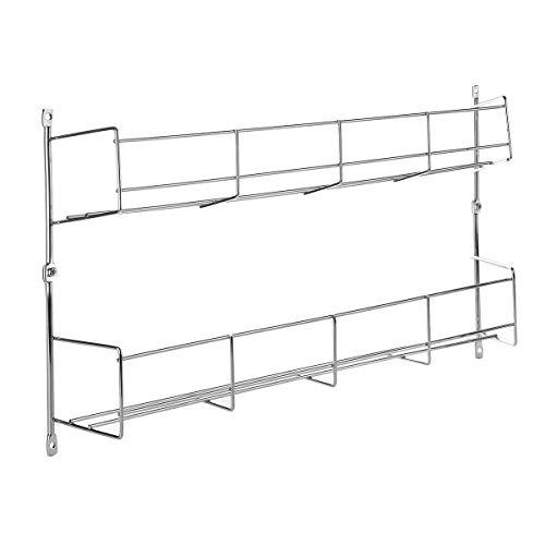 Tutoy 2 Tier Küche Spice Rack Cupboard Veranstalter Wall Mount Storage Pantry Eggs Holder 2 Tier-server
