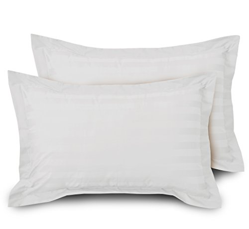 Ahmedabad Cotton Luxurious Striped 2 Piece Sateen Pillow Cover Set - 18