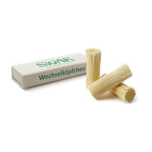 SWAK- Miswak- Wechselköpfchen 3er-Pack - für SWAK Biozahnbürste & Naturzahnbürste