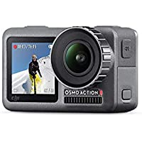 DJI Osmo Action Cam, Digital Camera with 11 m Dual Screen, Water Resistant, 4K HDR-Video 12MP 145 Degree Angle Camera - Black