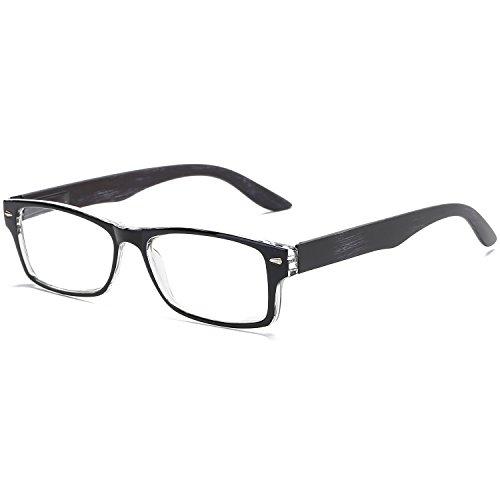 VEVESMUNDO Lesebrille Anti Blaulicht Herren Damen Federbügel Lesehilfen Sehhilfen Modern Breit Brillen mit Stärken Arbeitsplatzbrille Schwarz Braun 1.0 1.5 2.0 2.5 3.0 3.5