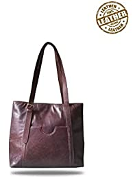 Strutt One Buckle Leather Tote Bag