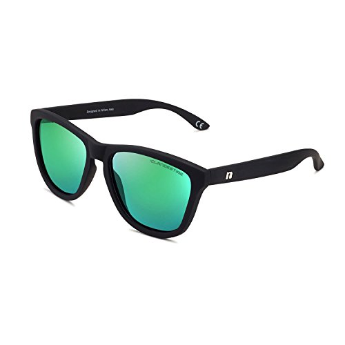 CLANDESTINE Model Matte Black Green N - Damen & Herren Nylon HD Sonnenbrillen