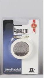 Bialetti Gummidichtung u. Filter Sieb für 4 Tassen Venus Bialetti Espressomaschine