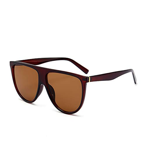 Brille Modetrend Big Box Sonnenbrille Europa und den Vereinigten Staaten große Marke mit dem gleichen Absatz Sonnenbrille braune Figur
