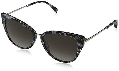 KAREN MILLEN Damen Atelier Sonnenbrille, Schwarz (Black Grey), 57.0