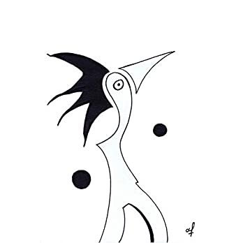 Olivier Cornil – Dans le vent 01 – Tuschezeichnung – 17 x 24 cm