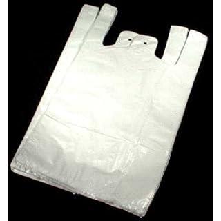 2000 Stk HDPE Hemdchentragetaschen weiss 30 x 18 x 55 cm