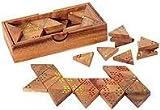 toys-for-all Tri Domino Tridomino Spiel aus Holz mit Punkten