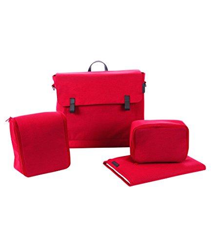 Maxi Cosi Modern Bagpraktische Wickeltasche mit vielen extras, Thermobox, Wickelunterlage, Thermobox, Kulturtasche, Baby-Tasche, Windel-Tasche, vivid red