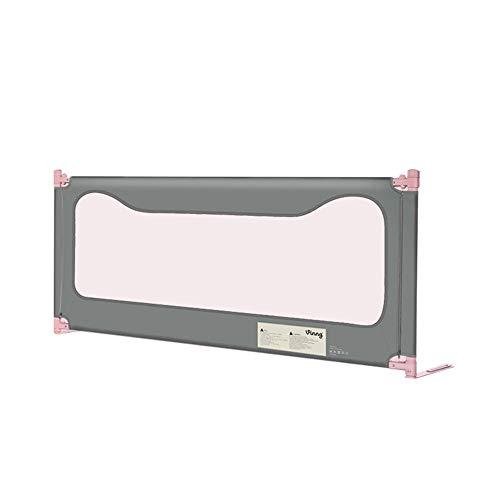 Babybett-Schienen-Schutz-vertikaler Aufzug, bewegliche lange Bettschiene, Sicherheits-einzelne Krippen-Schiene 1.2-2.2m (Color : Gray, Size : 200cm)