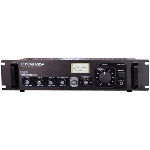 Amplificador PA Pirámide PA305 300W con salida de 70V y micrófono Talkover