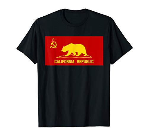 Kommunistische Flagge Der Kalifornien Republik T-Shirt (Kalifornien-republik-flagge)