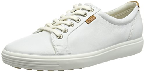 ECCO Soft 7 Ladies, Scarpe Stringate Basse Derby Donna Bianco (WHITE01007)