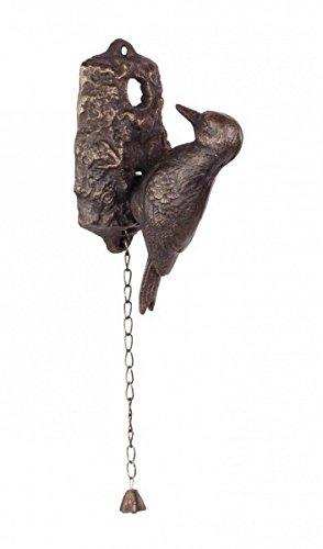 Luxus Pur UG Woodpecker Helmspecht Specht Gusseisen Türklopfer mit Glocke Garten Antik Eisen