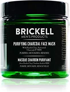 Brickell Men's Klärende Gesichtsmaske mit Aktivkohle und Entschlackendem Kaolin-Ton, Natürlich und Organisch - 4oz