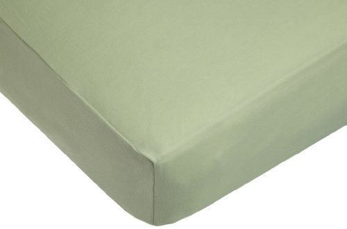 American Baby Company Organic Cotton Interlock Crib Sheet, Sage by