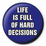 Life Decisions Button blau