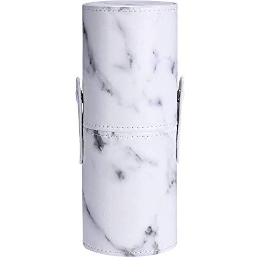 TOOGOO En Cuir Pu Marbre Motif Portable Maquillage Brosse Titulaire Cosmetiques Maquillage Tasse De Stockage Organisateur Boite
