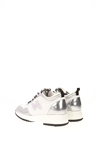 HXW00N0U460D6P0351 Hogan Sneakers Femme Tissu Blanc Blanc
