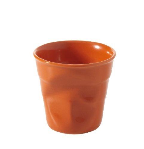 Revol Froisses 640681 Cappuccino Crumple Tumbler, Clementine by Revol