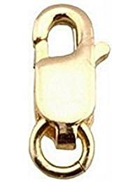 Fornitura oro 18k mosquetón 6mm. con asa [7641]