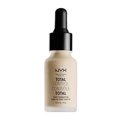 NYX PROFESSIONAL MAKEUP Total Control Drop Foundation, Vanilla, 0.43 Fl Oz