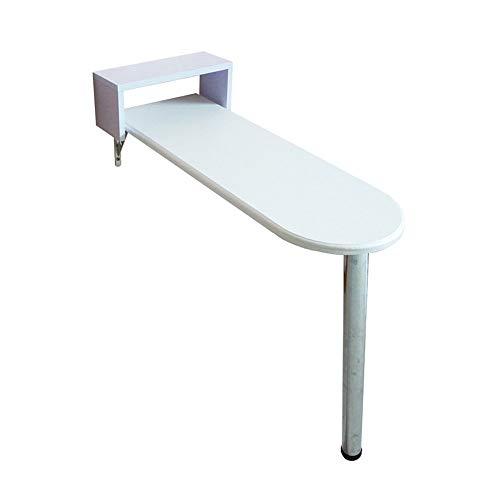 GUI Faule Tisch-Klappwand-Drop-Leaf-Tisch, Computertisch Kinder Tisch Schreibtisch, Küche Esstisch, Wandtisch, Weinglas Rack, weiß, 5 Größen verfügbar sparen Platz,85 * 40 * 80 cm -
