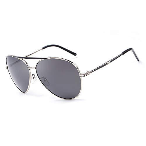Easy Go Shopping Frog Mirror Driving Klassische Vintage Brille mit rundem Rahmen 100% UV-Schutz Polarisierte Unisex-Sonnenbrille Sonnenbrillen und Flacher Spiegel (Color : Silber, Size : Kostenlos)