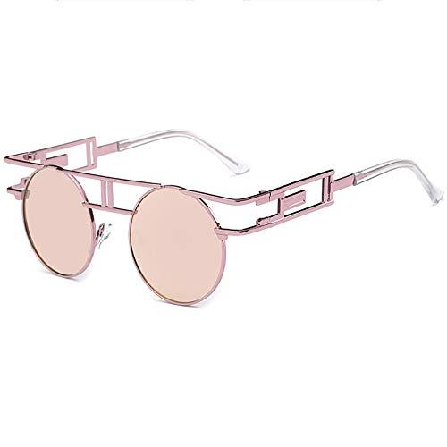 SHEEN KELLY Retro Steampunk sonnenbrille John Lennon männer frauen Metall rahmen runde brille marke designer spiegel linse Rosa