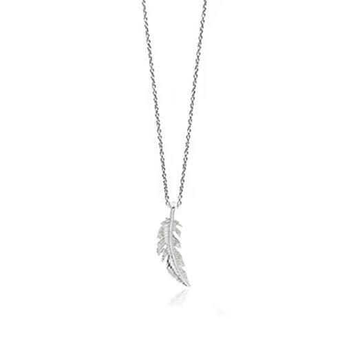 Engelsflügel Kette Schutzengel Flügel ohne Zirkonia Strass Lange Kette 70 cm mit Anhänger Set Halsketten für Damen Akki Silber