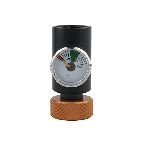 LQKYWNA 0-3000PSI CO2 Adapter Manometer ASA Paintball Füllstation 21 * 4 Gewinde Gasschlüssel Ladegerät Ladeverbindung für kohlensäurehaltige Soda-Getränke