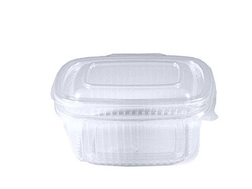 Feinkostbecher oval klar mit Deckel 500 ml (PP) [50 St.]