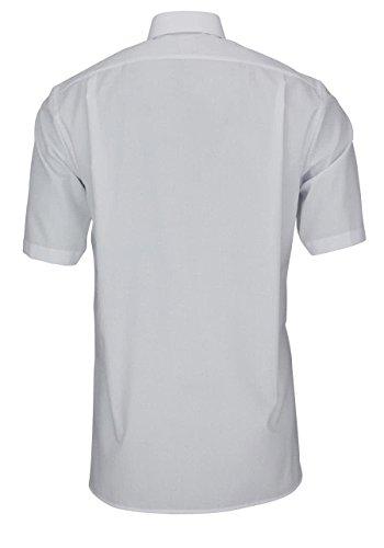 OLYMP Luxor Herren Hemd modern fit 1/2 Arm Button Down weiß 0303/12/00 Weiß