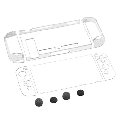 Fcostume Für Nintendo Switch Joy-Con Clear Hard Case Schutzhülle mit klarer Haut (Weiß) Klar Shell